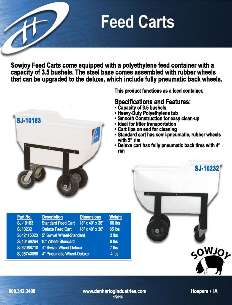 Feed Carts 2016 no pricing